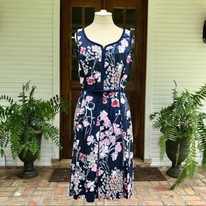 Pink and Navy Talbots Dress Size 8